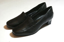 Black Leather High Heel Court Shoes Stitch Detail Formal UK Size 8 #114