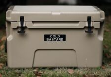 New COLD BASTARD PRO SERIES ICE CHEST BOX COOLER YETI QUALITY Free s&h 50L TAN
