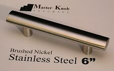 "30 pack Oval Brush Nickel 6"" Stainless Steel Tbar Kitchen Cabinet Handle Knobs"