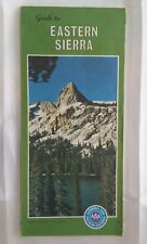1975 AAA Guide to Eastern Sierra Road Map