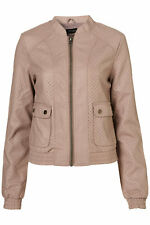 TOPSHOP RRP £58 mink pu leather Jacket  8  new with tags