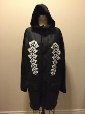 Alexander Wang for H&M Black Rubber Rain Jacket Coat White Design NWT Sz M
