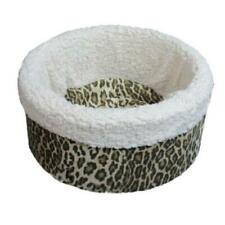 """Pets 4 All Pet Cat Dog Nest Round Bed - Animal Print Small 15"""" - Made in Usa"""