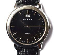 Rodania Quarz Armbanduhr Edelstahl Herren Herrenarmbanduhr Herrenuhr und Etui