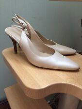 Hobbs Cream Leather Slingback Shoes Sz 38 UK 5