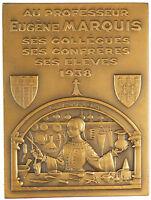 France medicine surgery PROFESSOR EUGENE MARQUIS bronze 54mm X 72mm by Bazin