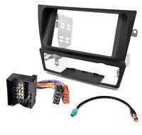 Radio Blende Adapter Kabel Set für BMW 3er E90 E91 E92 E93 schwarz Doppel-DIN
