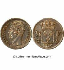 Pièces de monnaie françaises de 25 centimes 1 francs sur Charles X