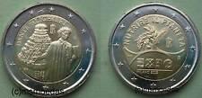 Italien 2x2 Euro 2015 Dante Alighieri+Expo Gedenkmünzen Euromünzen commemorative