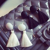 Fashion Women Boho Earrings Long Tassel Dangle Drop Ear Stud Earring Jewelry