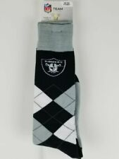 Las Vegas Raiders Oakland Socks 3 Pack Fits Mens Shoe Sizes 7-12 NFL Football Crew Length 3 Pairs
