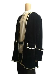 "Frock Coat Jacket Velvet Pirate LARP Cosplay Fancy Dress Fits 38""-50"" Chest"