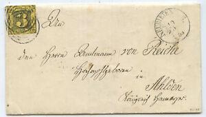 AD Thurn & Taxis Brief Neudietendorf Ahlden 1853