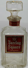 """1966 Barclay Square Canadian Whisky 9"""" 25oz Glass Bottle Decanter"""