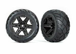 Traxxas 6775 Tires & Wheels, Assembled/ Glued (2.8') (RXT Black Wheels,