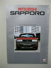 Mitsubishi Sapporo incl. Turbo brochure Prospekt 20 pages Dutch text 1982