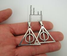 Set of 2 pcs Deathly Hallows Pendants for DIY Harry Potter Lot of 2 Large Charms