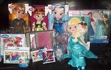 HUGE Lot of Disney Frozen Items Animator Dolls Sing Frozen Giftset LOTS MORE NEW