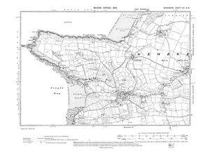 Old map Croyde, Putsborough, Georgeham (W) in 1905 Devon repro 8-NW