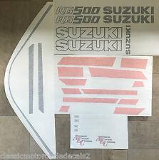 SUZUKI RG500 RG400 PAINTWORK RESTORATION DECAL SET MARK 1