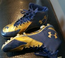 NOTRE DAME Football Under Armour Cleats ~ Team Issued ~ Clutch Fit ~ Size 13.5