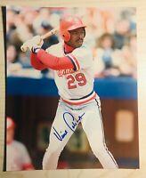 St Louis Cardinals Catcher VINCE COLEMAN auto signed autographed 8x10 1985 ROY