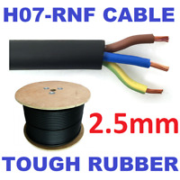 PER METRE 2.5mm 3 Core H07RN-F HO7RNF Outdoor Tough Rubber Cable Wire Lighting