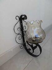 Aplique de pared lámpara hierro forjado forjado con el vidrio a una luz
