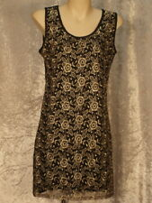 Gold Embroidered Flowers Dress
