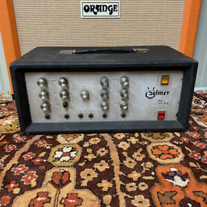 Vintage 1970s Selmer PA 100 SV EL34 Mullard XF2 Valve Amplifier Head