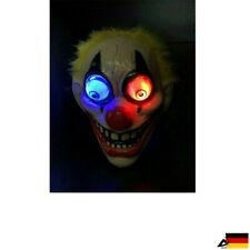 LED leuchtet Clown Maske Cosplay Horror Joker Gruseliger Halloween Fasching Mask