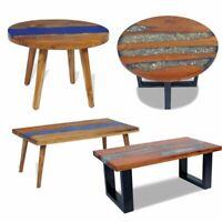 Coffee Table End Teak Resin Living Room Furniture Home Decor Round Rectangular