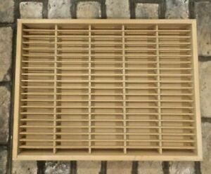Napa Valley~ Box Wood ~100 Cassette Tape Storage Holder Rack Organizer