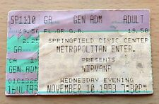 1993 Nirvana Springfield Ma. Concert Ticket Stub Kurt Cobain Dave Grohl In Utero