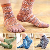 Hot  New Men's Women's Socks Pure Cotton Sports Five Finger Socks Toe Socks W5Ii