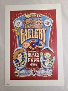 "= Disney Toy Story Woody's Midway Games Gallery Art Print 11"" by 15-1/2"""