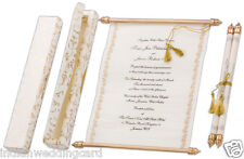 150Pcs Scroll Wedding Invitation Card Wedding Bride and Groom Scrolls Cards