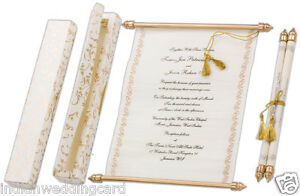 75pcs Wholesale Scroll Wedding Invitation Card