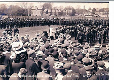 PHOTOGRAPH TERRITORIAL ARMY MEMORIAL SERVICE IPSWICH MAY 20TH 1910