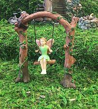 Mini Miniature Fairy Pixie Arch Swing Swinging Garden Home Accessory Decoration