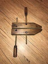 "Antique 12"" Wooden Vise Clamps Cincinnati Tool Co. #712 Beautiful Condition"