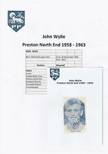 JOHN WYLIE PRESTON NORTH END 1958-1963 RARE ORIGINAL SIGNED MAGAZINE CUTTING