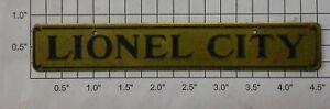 Lionel 124-120 Lionel City Brass Plate