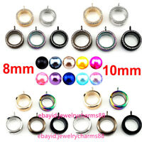 8mm 10mm Beads Cage Glass Locket Pearl Cage Floating Pendant Charms 30mm 34mm