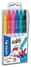 Pilot Frixion Color Fasermaler Etui mit 6 Stiften