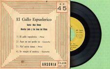 MON RIVERA, MONCHO LEÑA Y LOS ASES DEL RITMO / CLAVE CEP-701 Pres 1961 EP VG+