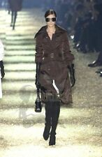 COLLECTOR'S ITEM GUCCI TOM FORD FW 2003 RUNWAY BLACK SUEDE OTK OVERKNEE BOOTS