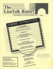 Sample Issue of The LisaTalk Report 1985 - 15 Pages - for Apple Lisa(MacXL)