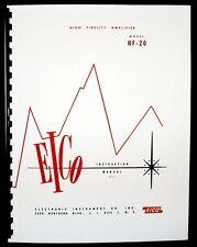 EICO Model HF-20 Hi-Fi Amplifier Operating and Construction Manual