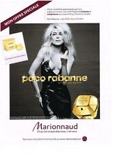 PUBLICITE ADVERTISING  2010   PACO RABANNE pour MARIONNAUD  parfum LADY MILLION